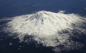 Картинка снег, горы, долина