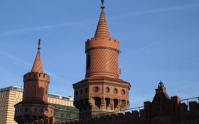 Картинка Германия, башня, Берлин, мост Обербаумбрюкке