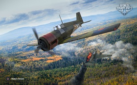 Обои истребитель, World of Warplanes, WoWp, Wargaming, Vickers Venom