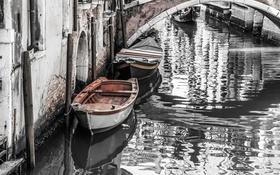 Обои Italy, Venecia, Boote
