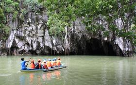 Картинка гора, пещера, River, Underground, Puerto, Princesa