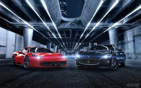 Обои Maserati, Ferrari, exclusive cars