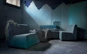 Обои комната, мебель, окно
