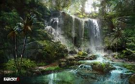 Обои Игра, Водопад, Far Cry 3, Атмосфера