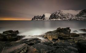 Обои море, горы, Норвегия