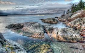 Обои Lighthouse Park, Ванкувер, Канада, побережье, фото, камни, парк