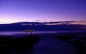 Обои тории, Japan, облака, океан, ворота, небо, Япония