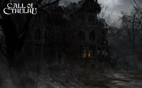 Обои свет, дом, дождь, руины, мрачно, Call of Cthulhu