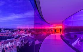 Обои краски, Дания, коридор, панорама, Орхус, Художественный музей