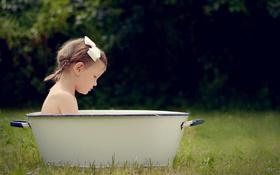 Обои настроение, девочка, ванна