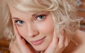 Картинка лицо, улыбка, модель, блондинка