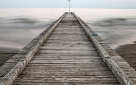 Картинка море, небо, мост