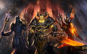 Обои hon, heroes of newerth, Abaddon, moba, Aeacus, Minos