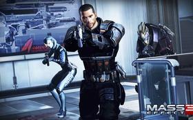 Обои mass effect 3, Shepard, Гаррус, СУЗИ
