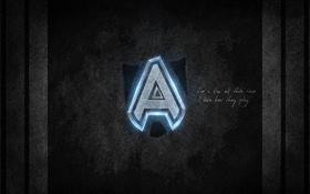 Обои свет, полосы, надпись, Команда, дота, дота 2, alliance