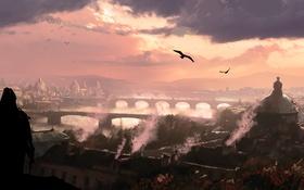 Картинка море, остров, арт, пираты, Assassin's Creed IV: Black Flag