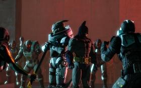 Картинка batman, mass effect, art, omega, cerberus, fan, garrus vakarian