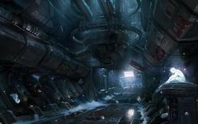 Картинка Арт, Фантастика, Halo 4, Голограмма, Невесомость