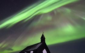 Обои небо, звезды, северное сияние, Исландия