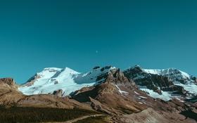 Обои небо, снег, горы, скалы, вершины, mountains