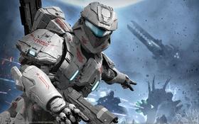 Обои ковенанты, Хало, десант, сражение, Halo: Spartan Assault, космос, планета