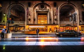 Картинка США, пешеход, автомобиль, злание, мужчина, New York, улица