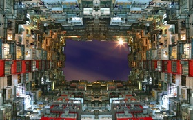 Картинка небо, город, дом