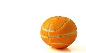 Картинка спорт, мяч, апельсин, фрукт
