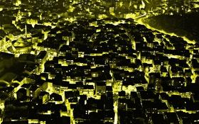 Картинка ночь, огни, дома, текстура, панорама, Стамбул, Турция