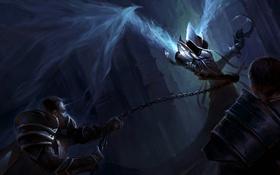 Обои цепь, Reaper Of Souls, сперп, Diablo III, Malthael, жнец, битва