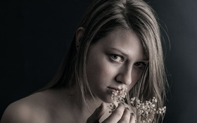 Картинка девушка, нежность, прелесть, цветочки, FRAGILITY