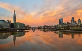Обои город, река, Лондон, London