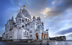 Обои Париж, Paris, France, Montmartre, basilique