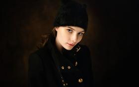 Картинка портрет, Anastasia Tonitsoy, пальто, шапка