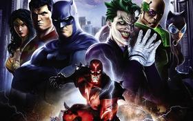 Обои Wonder Woman, Batman, Joker, Superman, Lex Luthor, Catwoman, DC Universe Online