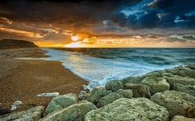 Картинка песок, камень, Природа