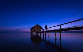 Обои Germany, Night, Bavaria, Ammersee