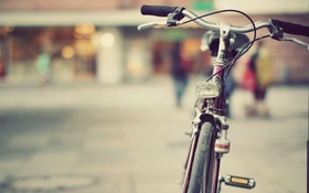 Обои велосипед, город, улица