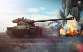 Обои США, USA, танк, танки, World of Tanks, T57 Heavy Tank, Wargaming.Net