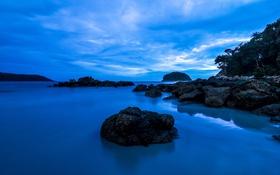 Картинка пляж, океан, рассвет, Phuket, сумерки, Kata Beach
