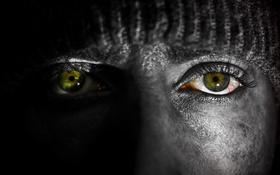 Обои глаза, лицо, макро
