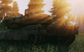 Обои игра, M1 Abrams, Battlefield 4, природа