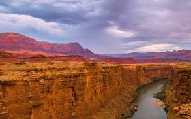 Обои скалы, Аризона, ущелье, США, река Колорадо, Grand Canyon National Park, Мраморный Каньон