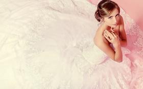 Картинка девушка, макияж, платье, блондинки, невеста