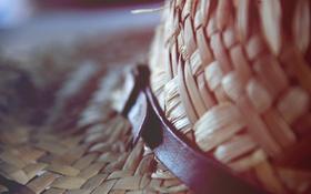 Обои шляпа, ремень, плетение