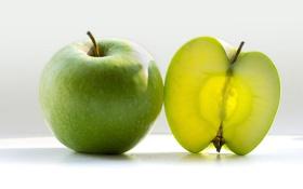 Обои макро, яблоко, еда