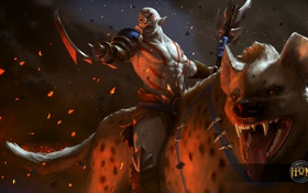 Картинка гиена, heroes of newerth, Rampage, White Orc, White Orc Rampage