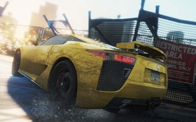 Обои Most Wanted, 2012, Need for speed, car, yellow, Lexus LFA