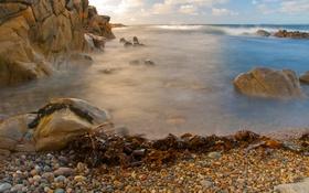 Обои море, волны, камни, скалы, побережье, прибой, Ирландия
