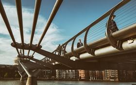 Обои Millennium Bridge, London, Лондон, мост, тысячалетия